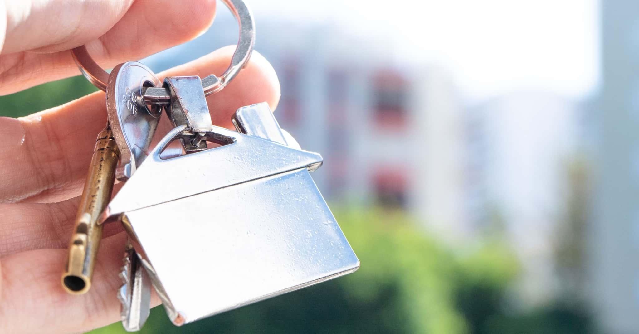 Porta-chaves da nova casa