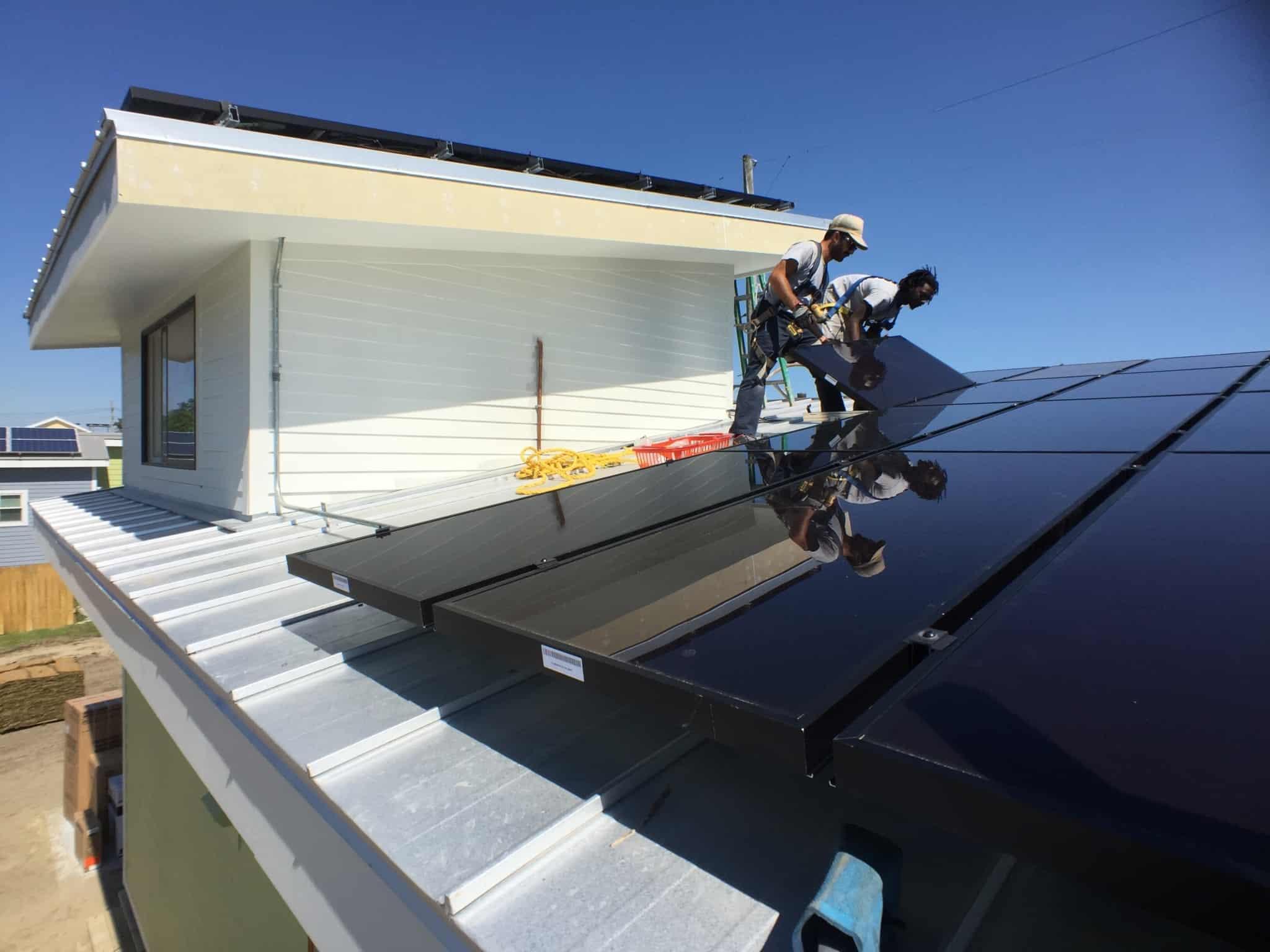instalaçao de paines solares em casa