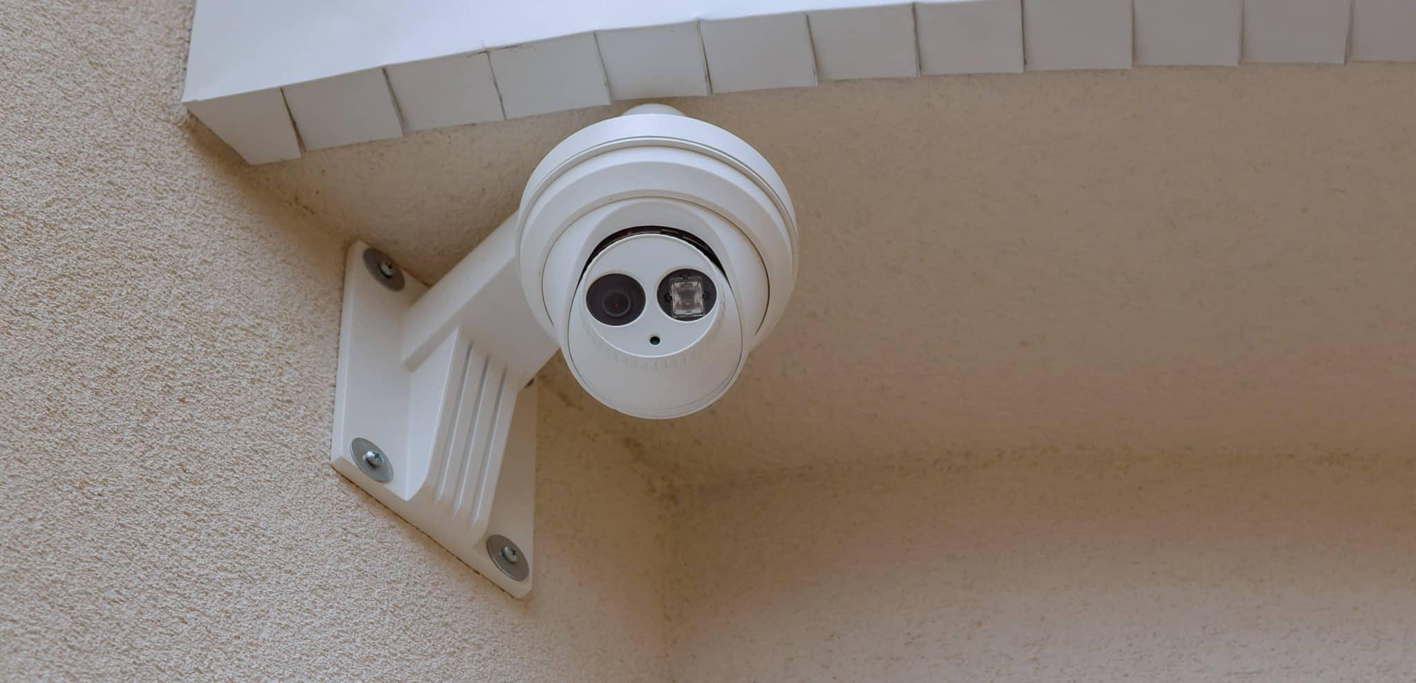 Camera de vigilância de uma casa