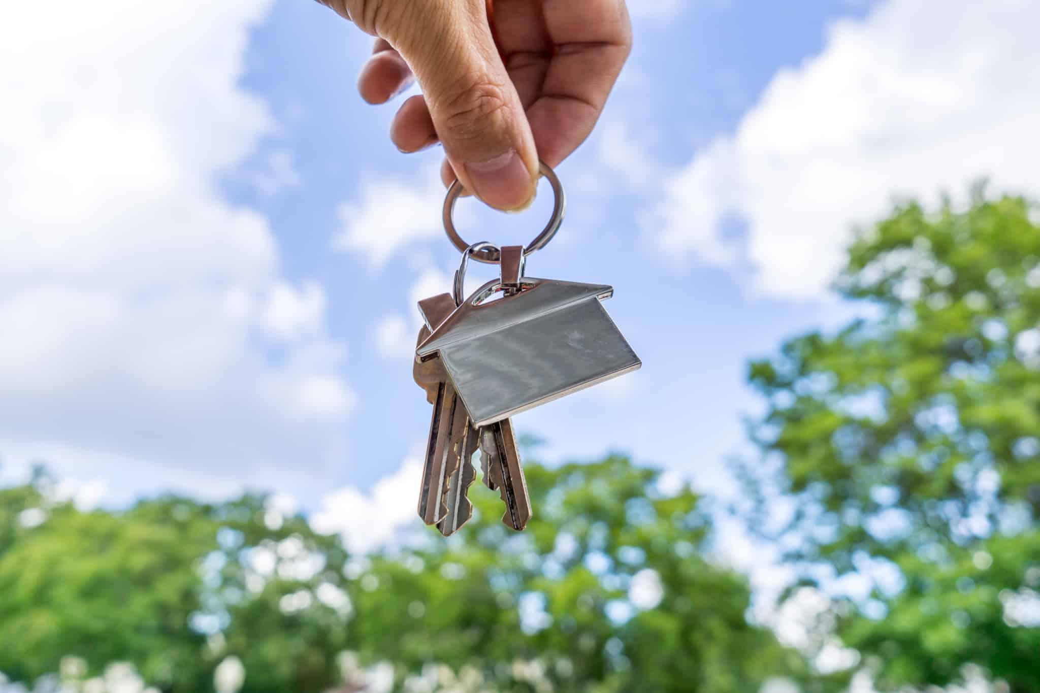 porta chaves em forma de casa