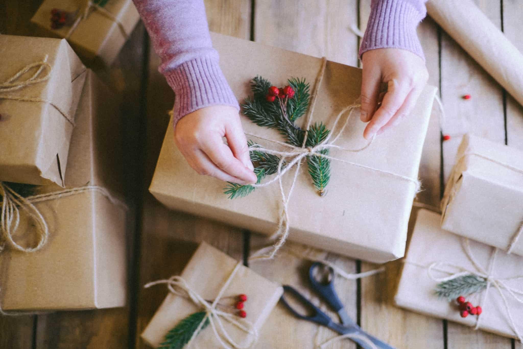 embrulhar prendas de natal
