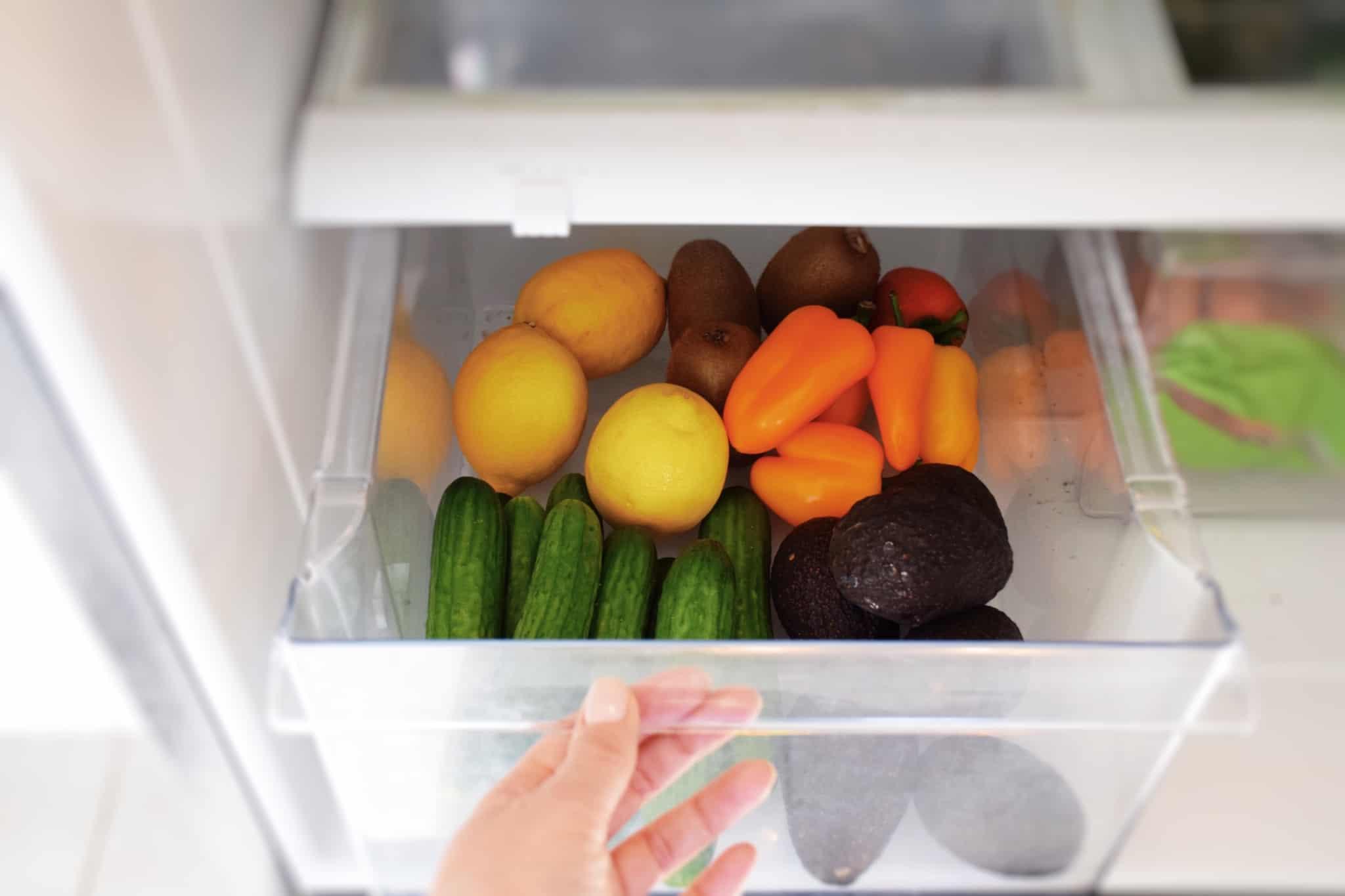 legumes em gaveta do frigorifico