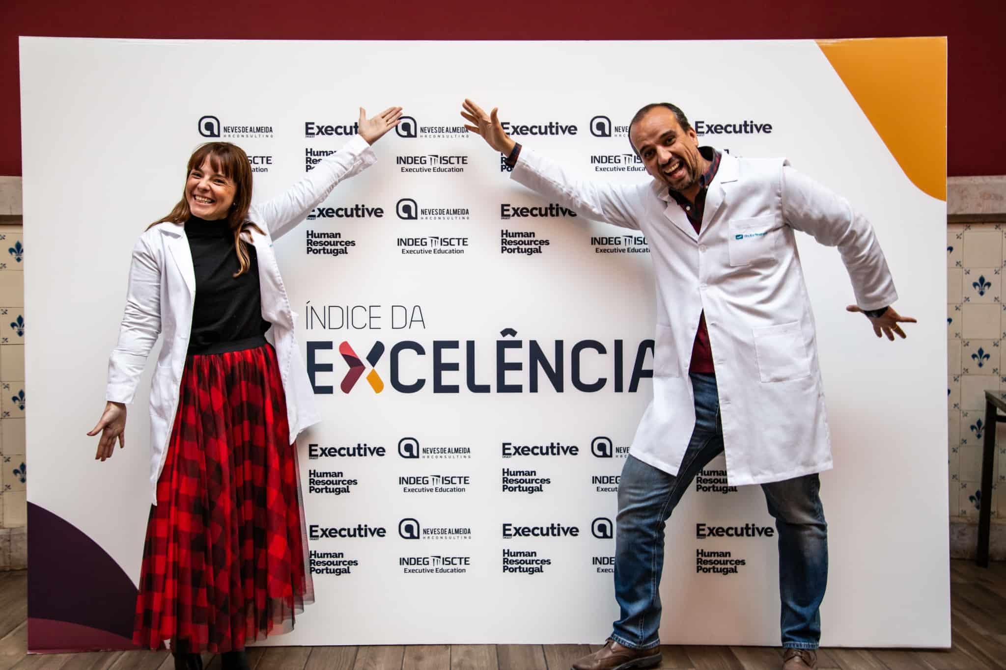 Irene Vieira Rua e Rui Bairrada nos prémios do índice de excelência