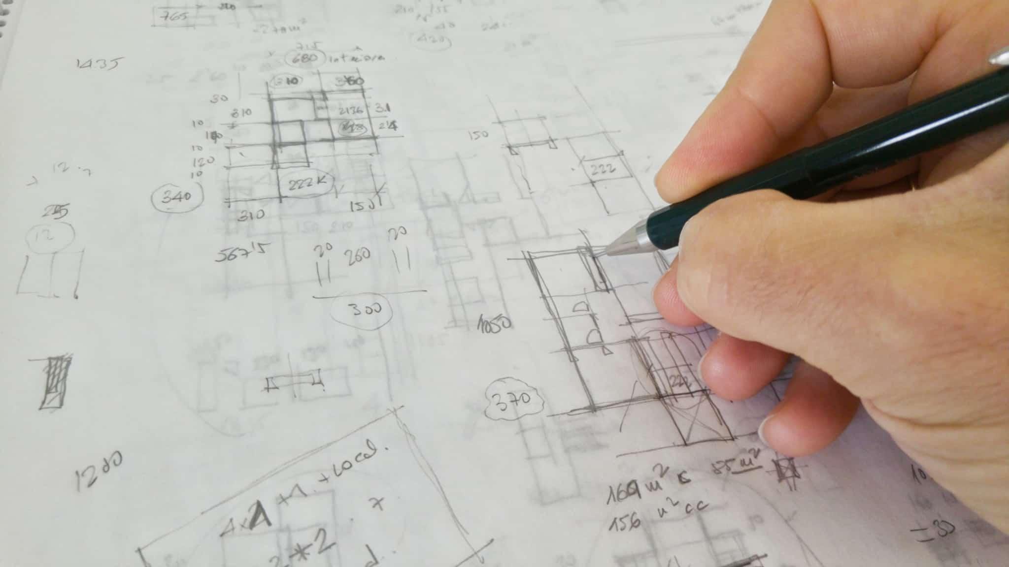 desenho de arquitectura de casa