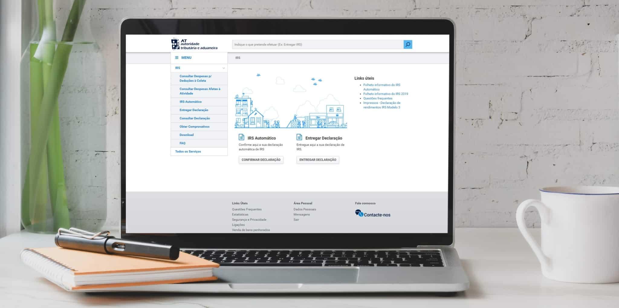 Website do portal das finanças