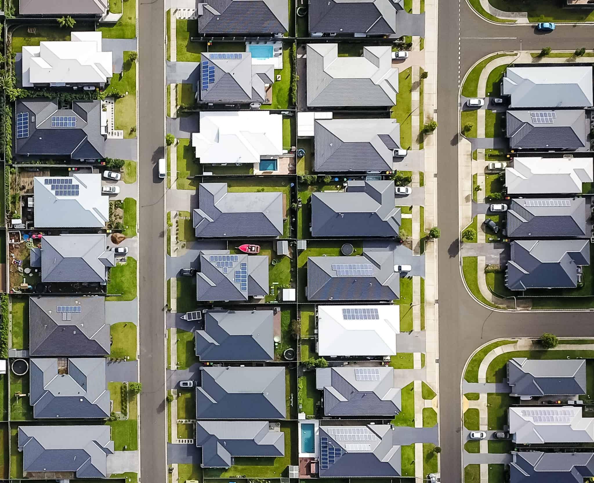 bairro com moradias todas iguais
