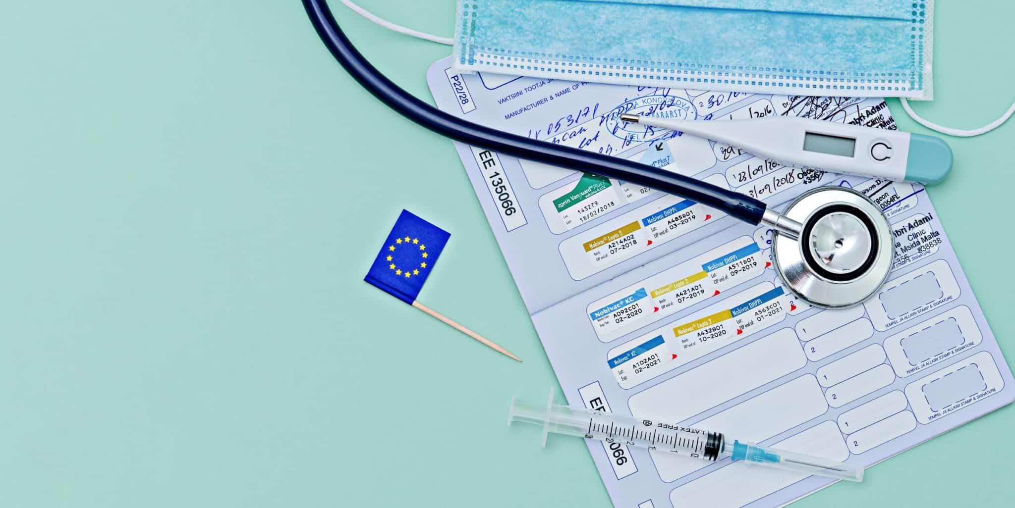documento com vacinas a nível europeu