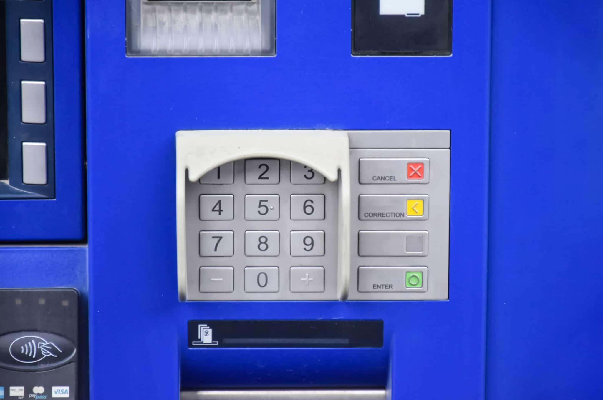 imagem de um multibanco