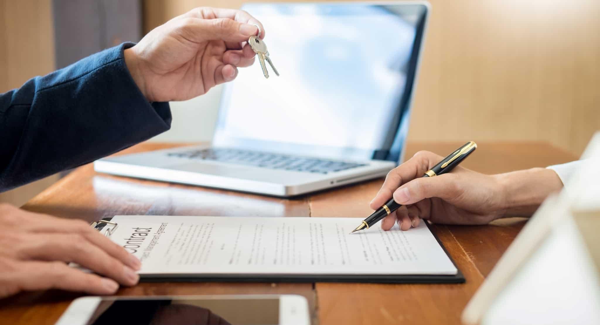 assinar contrato casa